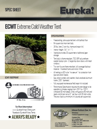 Features  sc 1 st  Eureka Military Tents & Extreme Cold Weather Tent