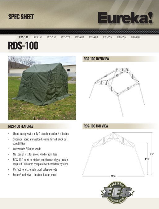 RDS-100  sc 1 st  Eureka Military Tents & Rapid Deployable System
